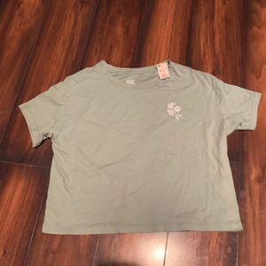 VS PINK size xs green short sleeve top NWT